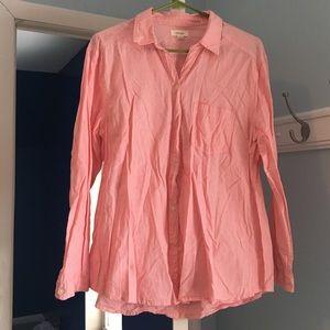 Aerie peach button down shirt